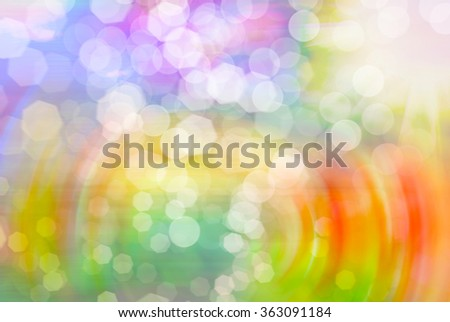 Bright vivid colorful sunny abstract bokeh background