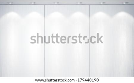 Bright wall with spotlights - stock photo