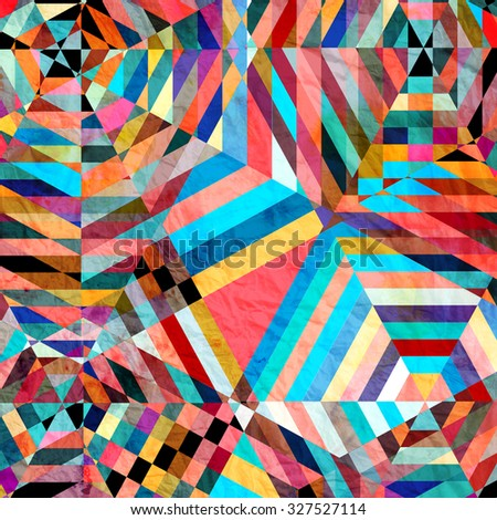 bright watercolor abstract beautiful background with fantastic elements - stock photo