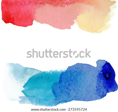 Bright watercolor background.