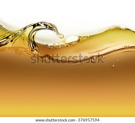 bright wave of oil with air bubbles as background - stock photo
