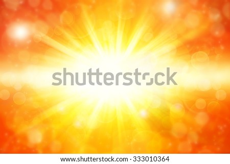 Bright yellow and orange explosion