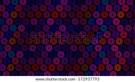 Brightly colored abstract background with creative pattern (lots of colored rings)