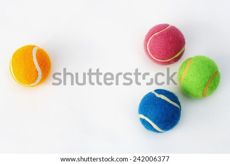 Brightly Colored Tennis Balls