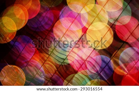 brightly coloured background in different shapes and colours - stock photo