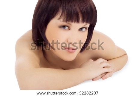 Brightly picture of lovely young woman