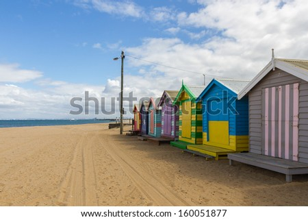 Brighton Beach at Victoria , Australia