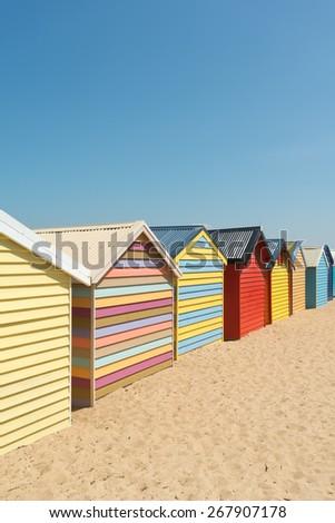 Brighton Beach Boxes in Melbourne, Australia - stock photo