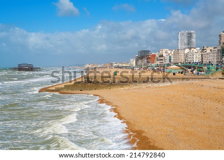 Brighton beach. Brighton, Sussex, England, UK - stock photo