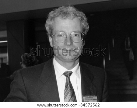 BRIGHTON, ENGLAND-OCTOBER 1: Chris Smith, Labour M.P. & Secretary for Media, Culture & Sport, visits the party conference on October 1, 1991 in Brighton, Sussex. He was Britain's first openly gay M.P.