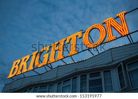 Brighton Pier Lights, England, UK
