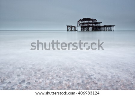 Brighton pier, UK - stock photo