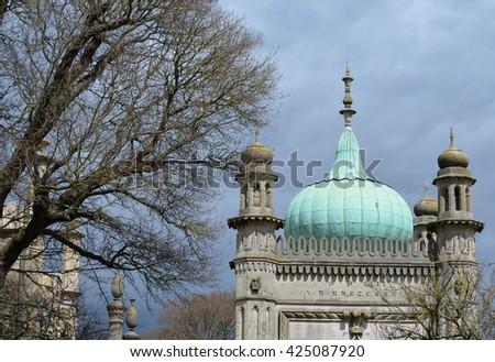 Brighton Royal Pavilion Gate Architecture - stock photo
