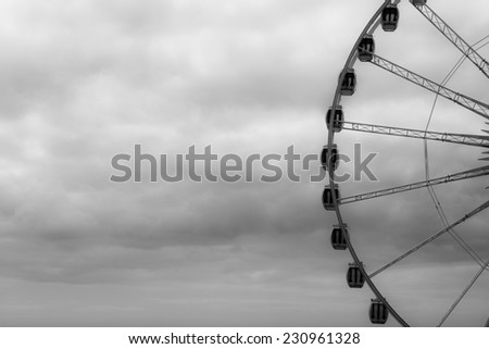 Brighton Wheel in Cloudy Day - stock photo