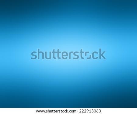 brilliant blurred center on sky blue background color, gradient radial blur design, black border - stock photo