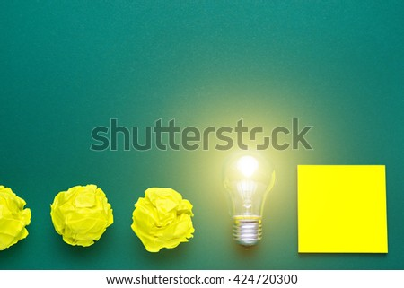 Brilliant business idea. The project idea. Team brainstorming. Developing a successful business project. Flat lay photo - stock photo
