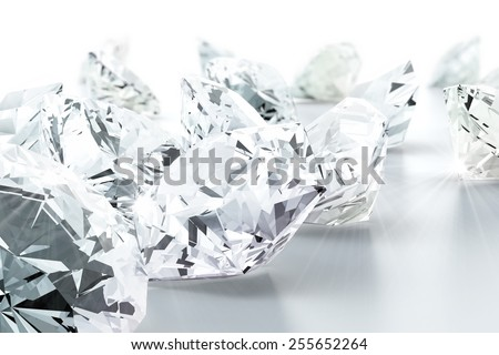 brilliant diamond jewel (high resolution 3D image) - stock photo