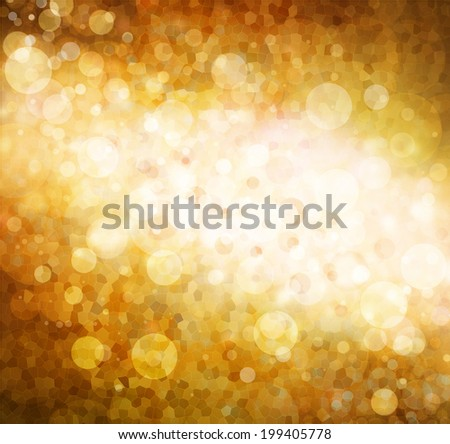 brilliant dramatic gold orange and red background with bubble circle shapes and stained glass background texture, bright white star lights sparkling on black backdrop, shiny glittering glowing lights