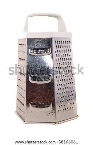 Brilliant grater with various surfaces on a white background