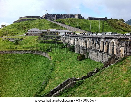 Brimstone Hill Fortress in St. Kitts in the Caribbean