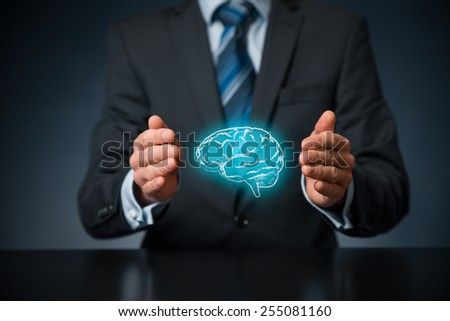 Bring creativity for your business, business vision, headhunter concepts, business intelligence, mental health and psychology, business decision making; copyright and intellectual property rights.  - stock photo