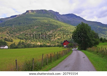 bring you into the mountains - stock photo