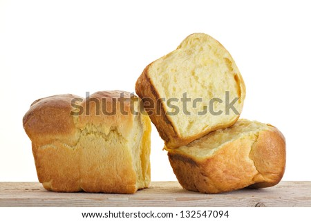 Brioche portions isolated - stock photo