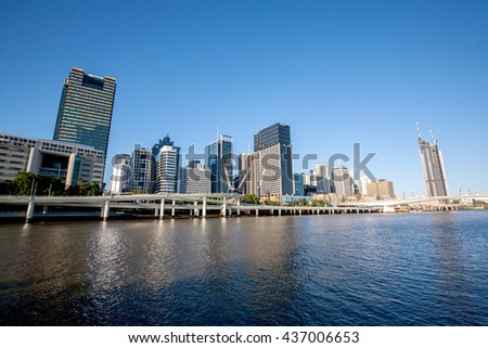 BRISBANE, AUSTRALIA - MAY 05: Brisbane Riverside, It's the capital and most populous city in the Australia and central of business on the situated inside a bend of the Brisbane River on May 05, 2016