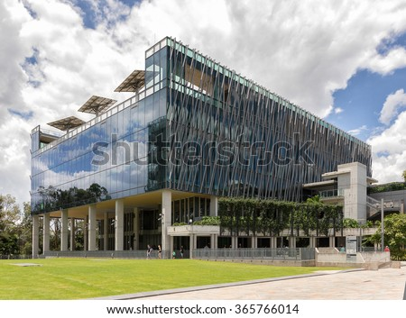 Brisbane, Australia on 10th Jan 2016: Queensland University of Technology, abbreviated as QUT, is a public research university located in the urban coastal city of Brisbane, Queensland - stock photo