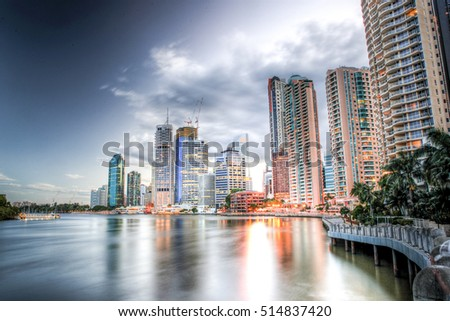 Brisbane Central Business District in Australia