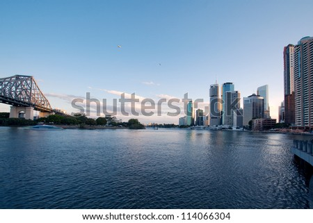 Brisbane city - stock photo