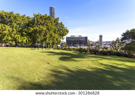 Brisbane City Park - stock photo