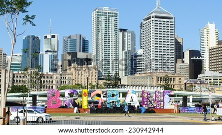 Brisbane G20. The 12th to the 16th of November saw Brisbane playing host to the G20 Summit. Leaders from the world's richest economies met at the Convention Centre in Brisbane. Brisbane,CIRCA Nov 2014. - stock photo