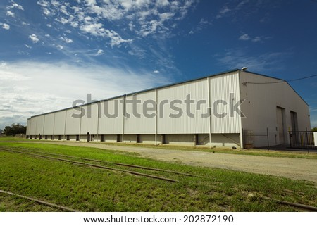 Brisbane industrial area, fuel storage - stock photo