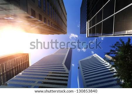 Brisbane, modern urban architecture - stock photo