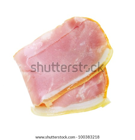 Brisket meat isolated on white