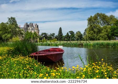 Brissac castle - stock photo