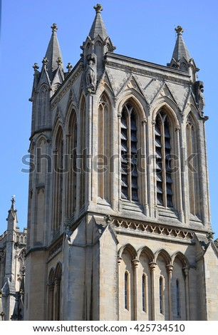 Bristol Cathedral Tower - stock photo