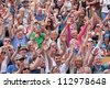 BRISTOL, ENGLAND - JULY 21:  An audience at the 41st Bristol Harbour Festival on July 21, 2012. An estimated 300,000 people attended the largest event of its type in Europe over its three days - stock photo
