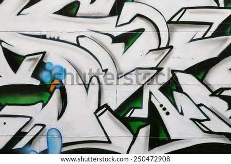 BRISTOL - SEP 26: View of a graffiti piece by an unidentified artist on a cty centre wall on Sep 26, 2010 in Bristol, UK. Bristol is renowned for its vibrant graffiti and street art scene. - stock photo