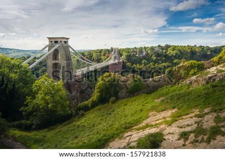 Bristol suspension bridge - stock photo