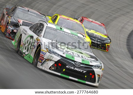 Bristol, TN - Apr 19, 2015:  Matt Dibenedetto (83) brings his race car through the turns during the Food City 500 race at the Bristol Motor Speedway in Bristol, TN. - stock photo