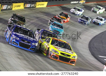 Bristol, TN - Apr 19, 2015:  The NASCAR Sprint Cup Series teams take to the track for the Food City 500 at Bristol Motor Speedway in Bristol, TN.