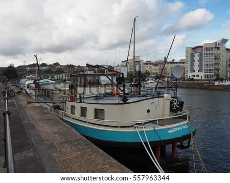 BRISTOL, UK - CIRCA SEPTEMBER 2016: Bristol Harbour (part of Port of Bristol)