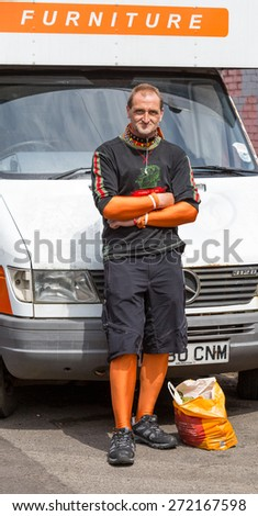 Bristol, UK. 5th July 2014. Many colourful characters attend the carnival - stock photo