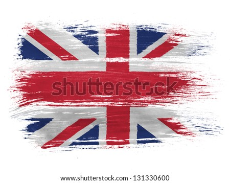Britain. British flag on white background - stock photo