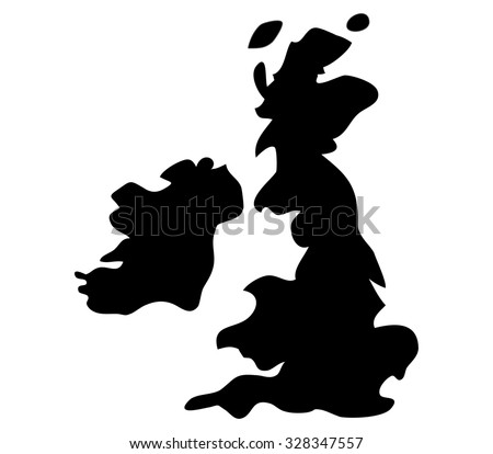 britain map on a white background