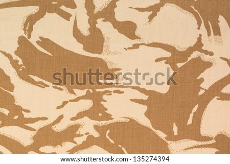 British armed force desert dpm camouflage fabric texture background - stock photo