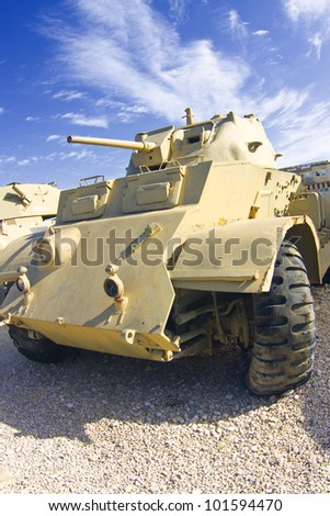 British armored car of the times of World War II. - stock photo