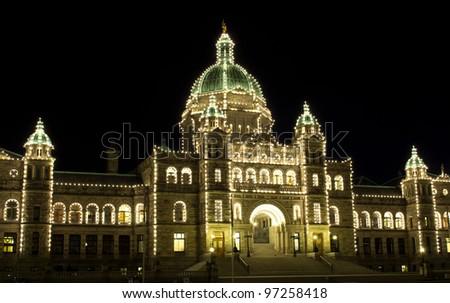 British Columbia, Canada Legislature building in Victoria. - stock photo